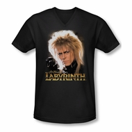 Labyrinth Shirt Slim Fit V Neck Jareth Black Tee T-Shirt