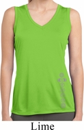 Ladies 7 Chakras Bottom Print Sleeveless Moisture Wicking Tee