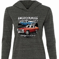 Ladies American Made Dodge Dart Tri Blend Hoodie Shirt