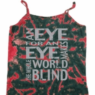 Ladies An Eye for an Eye Tie Dye Camisole Tank Top