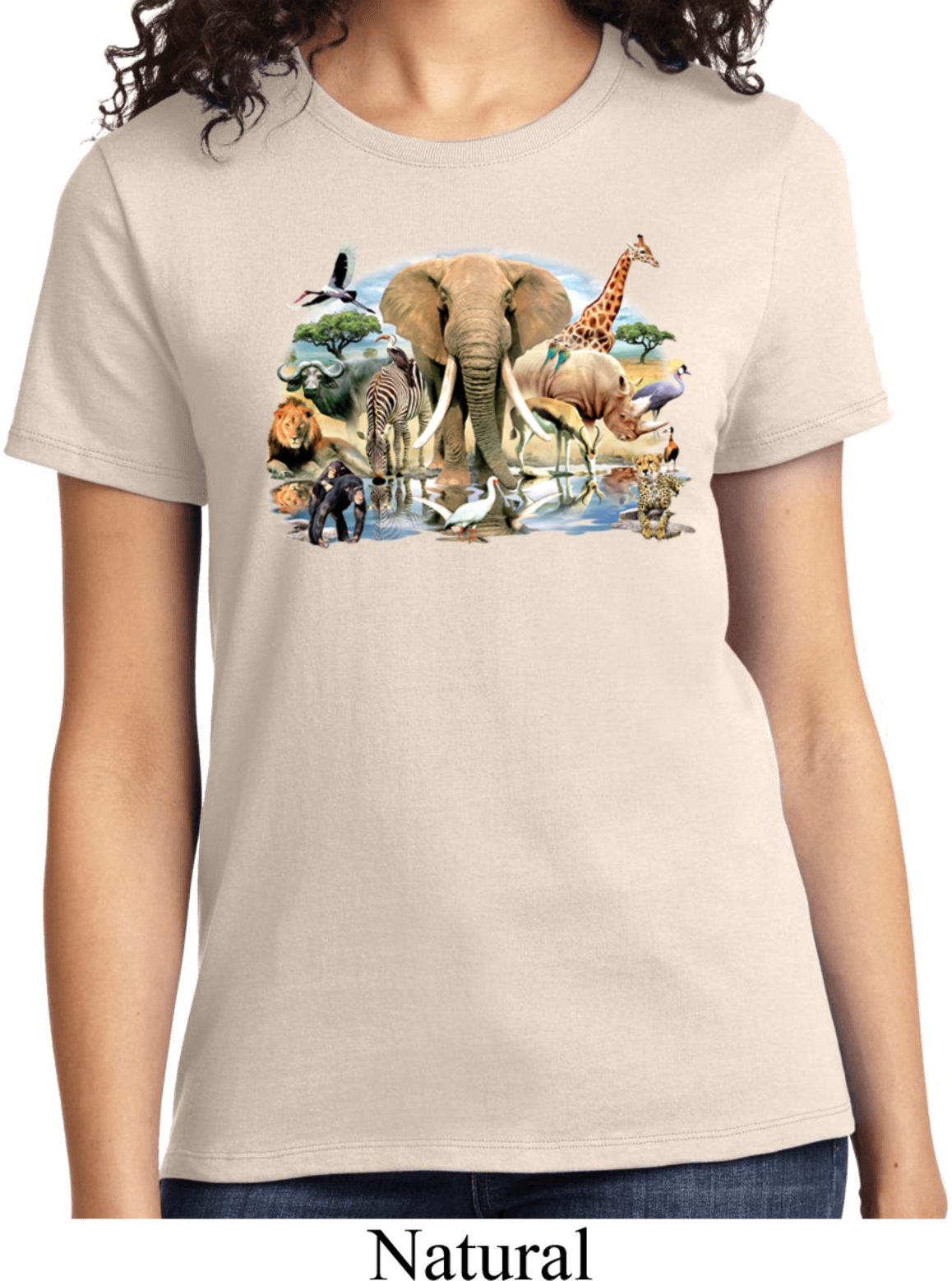 Ladies animal shirt african oasis tee t shirt african for Animal tee shirts online