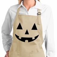 Ladies Apron Black Jack O Lantern Full Length Apron with Pockets