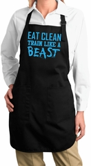 Ladies Apron Gymnastics Text Full Length Apron with Pockets