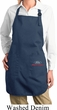 Ladies Apron Ford Racing Bottom Print Full Length Apron with Pockets