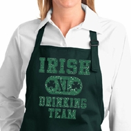 Ladies Apron Irish Drinking Team Full Length Apron with Pockets