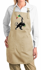 Ladies Apron Rasta Triangle Full Length Apron with Pockets