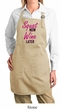 Ladies Apron Squat Now Wine Later Full Length Apron with Pockets