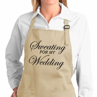 Ladies Apron Sweating For My Wedding Full Length Apron with Pockets