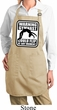 Ladies Apron Warning Gymnast Could Flip Full Length Apron with Pockets