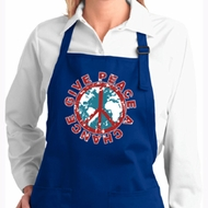 Ladies Apron Give Peace a Chance Full Length Apron with Pockets