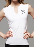 Ladies Aum Patch Shirt - V-Slit Cotton/Spandex Tank