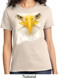 Ladies Bald Eagle Shirt Big Bald Eagle Face Tee T-Shirt