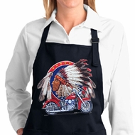 Ladies Big Chief Indian Motorcycle Full Length Apron with Pockets