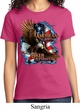 Ladies Biker Shirt American By Birth Tee T-Shirt