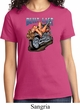 Ladies Biker Shirt Built To Last Tee T-Shirt