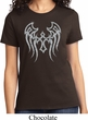 Ladies Biker Shirt Cross Wings Tee T-Shirt