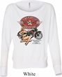 Ladies Biker Shirt Full Service Gas Off Shoulder Tee T-Shirt