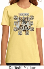 Ladies Biker Shirt Get Your Kicks Organic Tee T-Shirt
