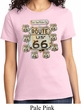 Ladies Biker Shirt Get Your Kicks Tee T-Shirt