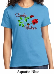 Ladies Biker Shirt Lady Biker Tee T-Shirt