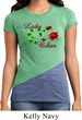 Ladies Biker Shirt Lady Biker Tri Blend Crewneck Tee T-Shirt