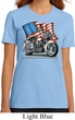 Ladies Biker Shirt Motorcycle Flag Organic Tee T-Shirt
