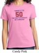 Ladies Birthday Shirt Made it to 50 Tee T-Shirt