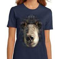 Ladies Black Bear Shirt Big Black Bear Face Organic T-Shirt