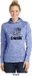 Ladies Black Penguin Power Swim Dry Wicking Hoodie