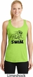 Ladies Black Penguin Power Swim Dry Wicking Racerback