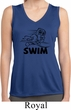Ladies Black Penguin Power Swim Dry Wicking Sleeveless Shirt