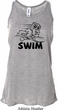 Ladies Black Penguin Power Swim Flowy Racerback