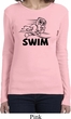 Ladies Black Penguin Power Swim Long Sleeve