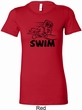 Ladies Black Penguin Power Swim Longer Length Shirt
