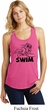 Ladies Black Penguin Power Swim Racerback Tank Top