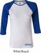 Ladies Blue Dodge Charger Bottom Print Raglan Shirt