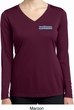 Ladies Blue Dodge Charger Pocket Print Dry Wicking Long Sleeve Shirt