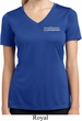 Ladies Blue Dodge Charger Pocket Print Dry Wicking V-neck Shirt