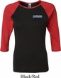 Ladies Blue Dodge Charger Pocket Print Raglan Shirt