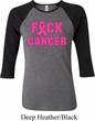 Ladies Breast Cancer Awareness Shirt F*CK Cancer Raglan Tee T-Shirt