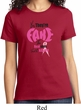 Ladies Breast Cancer Awareness Shirt Yes They're Fake Tee T-Shirt