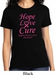 Ladies Breast Cancer Awareness Tee Hope Love Cure T-shirt