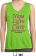 Ladies Breast Cancer Hope Love Cure Dry Wicking Sleeveless Shirt