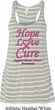 Ladies Breast Cancer Hope Love Cure Flowy Racerback