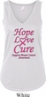 Ladies Breast Cancer Hope Love Cure Flowy V-neck Tank Top