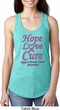 Ladies Breast Cancer Hope Love Cure Ideal Racerback