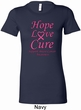Ladies Breast Cancer Hope Love Cure Longer Length Shirt