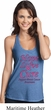 Ladies Breast Cancer Hope Love Cure T-Back Tank Top