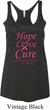 Ladies Breast Cancer Hope Love Cure Tri Blend Racerback