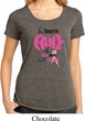 Ladies Breast Cancer Shirt Yes, They're Fake Lace Back Tee T-Shirt